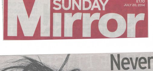Sunday Mirror 20 July 2014 Nina Nesbitt by Rankin